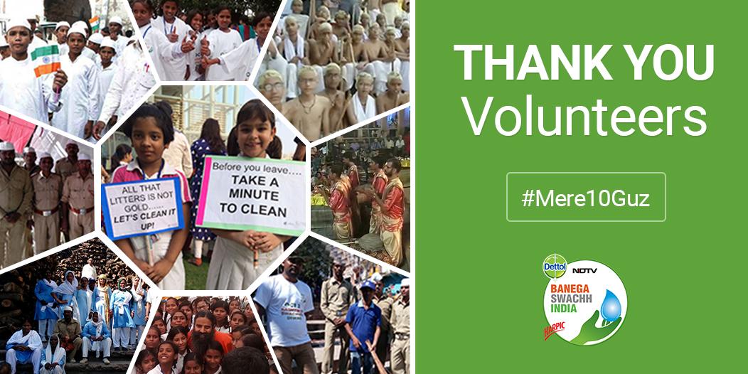 Banega swachh india thank you volunteers
