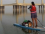 A Woman Paddle-boards Across The Ganges To Spread The Swachh Message thumb