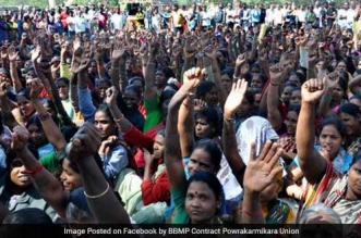 The 19,000 strong female sanitation workforce of Bangalore has called for a strike on 8th March.