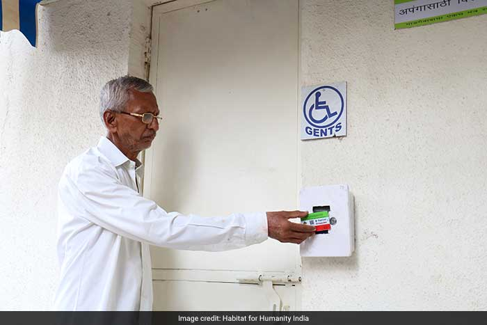 People have been given smart cards to access the toilet