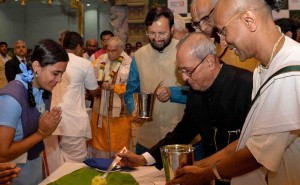 Pranab Mukherjee Commemorates NGO's Milestone Of Serving 2 Billion Meals