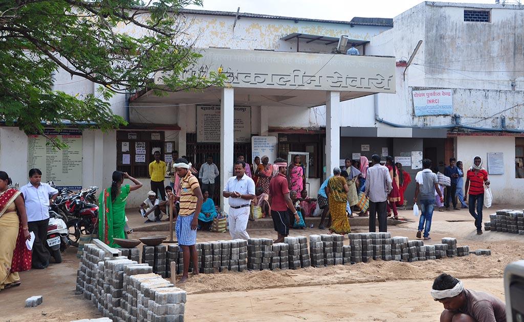 Entrance to the Maharani Medical College General Ward.
