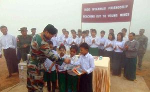 In Goodwill Gesture, Indian Army Reaches Out To Flood-Hit Myanmar Children