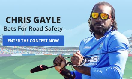 #RoadToSafety Contest: A Surprise In Store From Chris Gayle