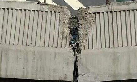 Delhi Flyover Used By Lakhs Each Day Held Together By Planks And Prayers