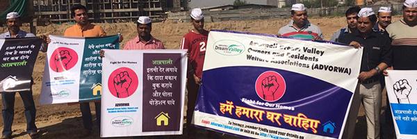Amrapali buyer protest