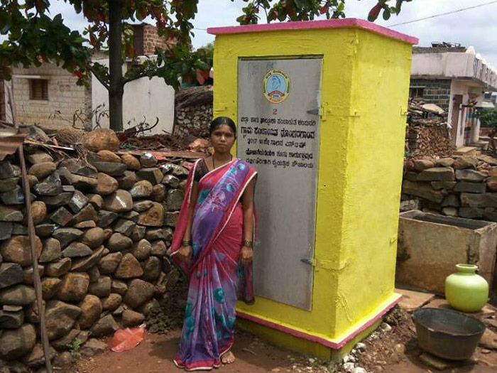 One of the toilets in a village in Kalaburagi