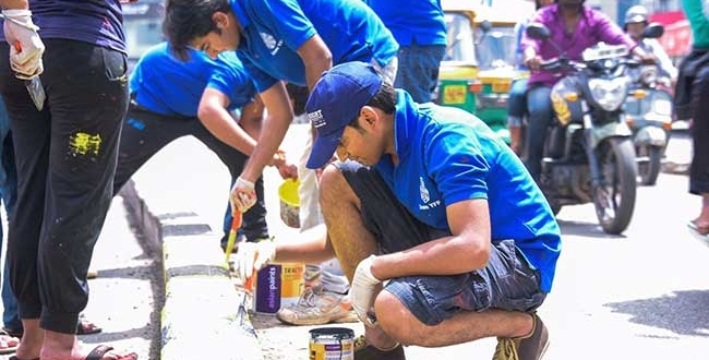 Painting Their Way To Swachhta 1,200 Citizens Are Beautifying Bengaluru To Eliminate Garbage Dumping Spots