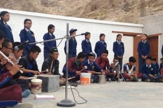 Make Way For The Trash Band: School Students In Ladakh Show The World How To Upcycle Waste Into Musical Instruments