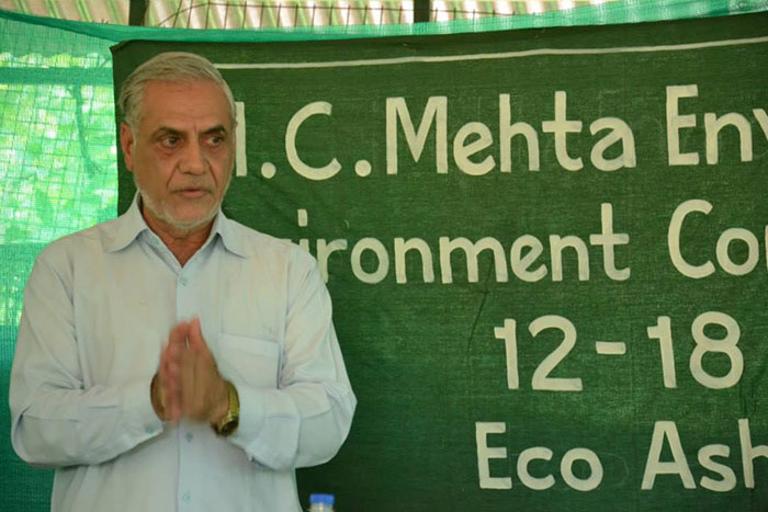 Mr Mehta has been fighting for the Ganga cause for 32 years