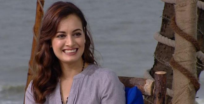 Image result for Indian actress Dia Mirza  plastic waste