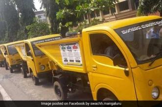 Waste collection vehicles in Mangaluru
