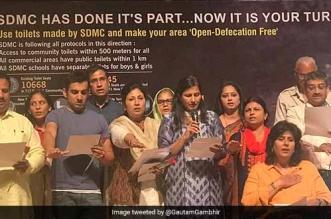 South Delhi Municipal Corporation Declared Open Defecation Free On Rashtriya Swachhta Diwas