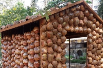 In The Concrete Jungle Of Mumbai, Here Comes A Low-Cost, Eco-Friendly House Made Of Coconut Shells