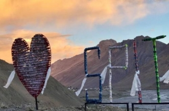 Spiti Valley Is Highlighting Plastic Menace With This Unique Art Installation Made With Discarded PET Bottles
