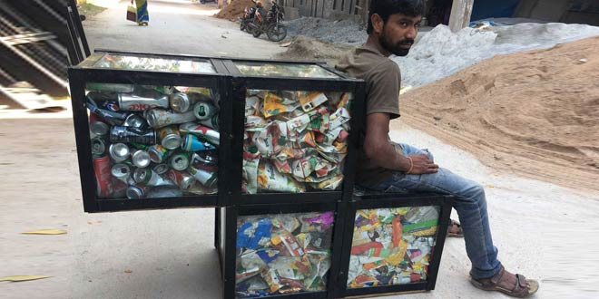 Hyderabad To Sit On Garbage 1,000 Kilos Of Waste Recycled To Make Street Furniture