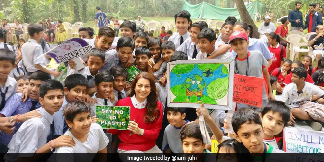 Juhi Chawla expresses happiness over plastic ban