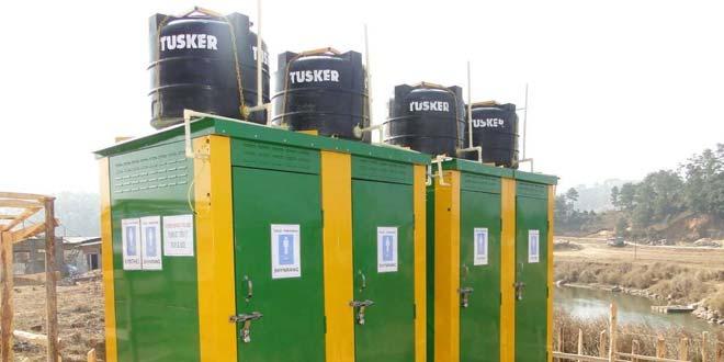 Modular toilets in Meghalaya