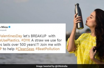 This Valentine's Day, Let's 'Break-Up' With Single Use Plastic: Actor Dia Mirza