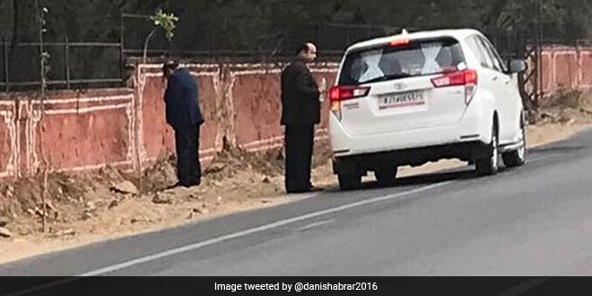 Picture Of Rajasthan Health Minister Urinating On Jaipur Walls Goes Viral