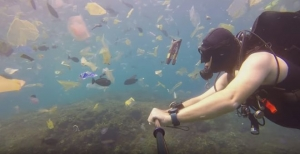 This Video Of A Swimmer Encountering A Heap Of Plastic Trash In Bali Is A Lesson For Countries Struggling With Plastic Pollution