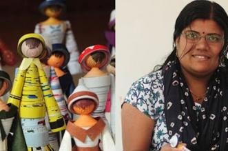paper-waste-Vijitha-Retheesh-with-dolls_660