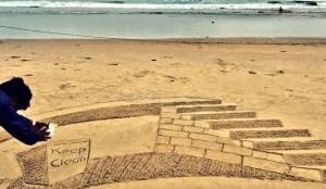 Exploring Multiple Dimensions: Sudarsan Pattnaik Lights Up Puri Beach With Mesmerizing Swachh Bharat Sand Artwork In 3D