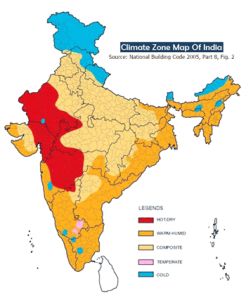 Climate zones in India