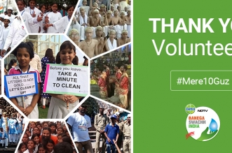 Banega swachh india thank you volunteers