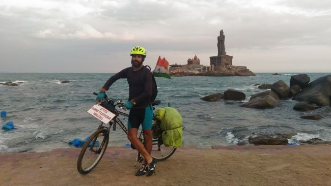 swachh india - Go Swachh India A Man Cycles From Kargil To Kanyakumari To Spread The Message