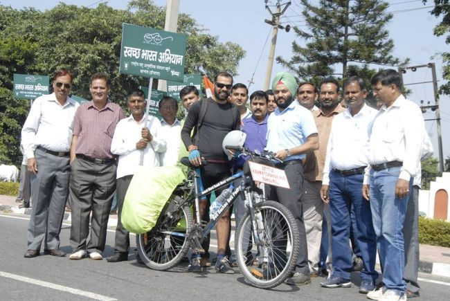 swachh india - Go Swachh India A Man Cycles From Kargil To Kanyakumari To Spread The Message 3