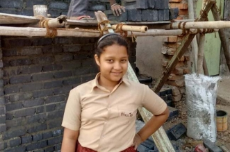 11 year old built toilet using her pocket money