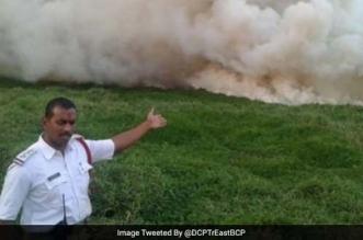 Bellandur lake fire