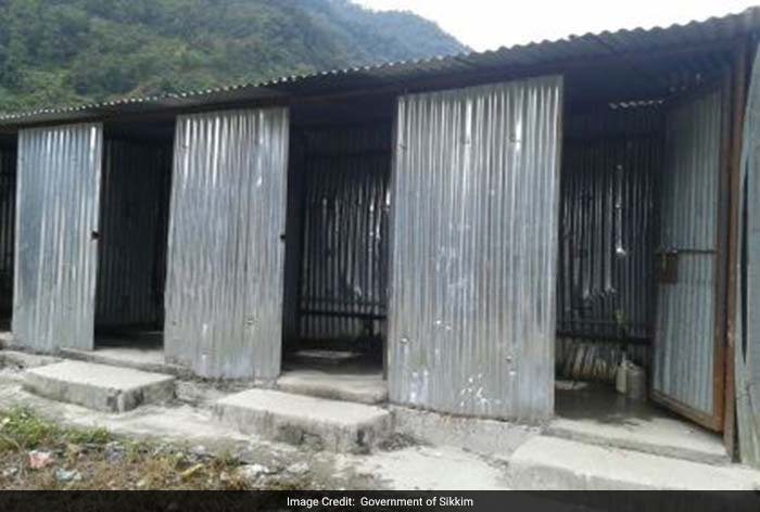 Several toilets have been installed in Sikkim along the mountainous roads