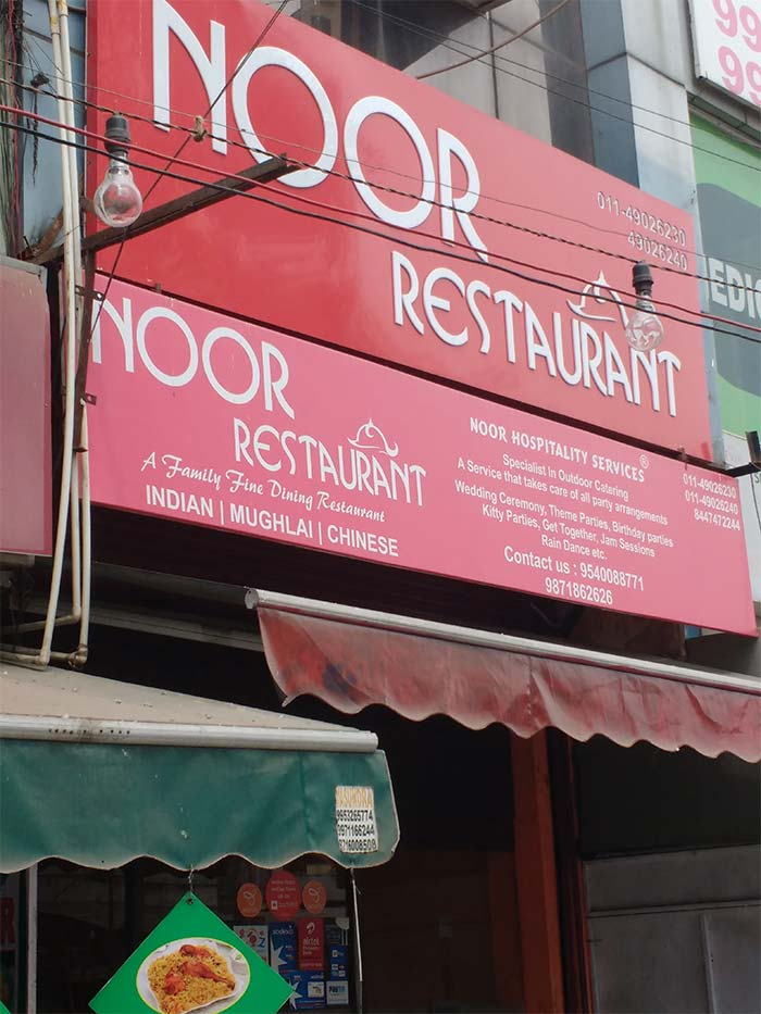 Many restaurants like Noor in Kalkaji are not aware of any notification by SDMC