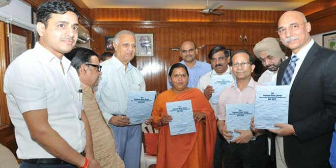 A committee constituted to prepare a draft Ganga Act submitted its report to the Union Ministry of Water Resources