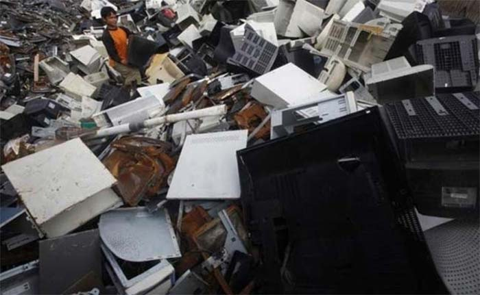 The unorganised sector in India contributes about 95 per cent to India's e-waste generation