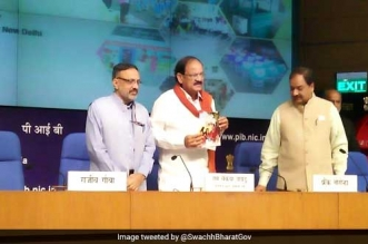 Swachh Survekshan 2017: Union Minister M Venkaiah Naidu Releases Cleanliness Books In 15 Languages