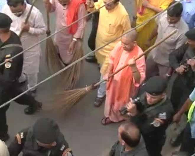 Yogi Adityanath Picks Up Broom After UP City Ranked Last In Swachh Sarvekshan 2017