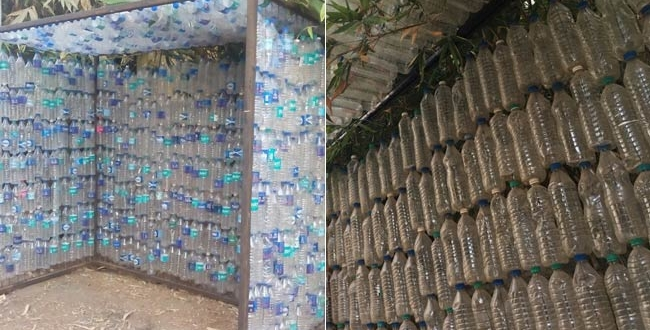These Hyderabad Swachh Warriors Aim To Build 100 Bus Shelters Out Of Plastic Bottles In Next 24 Months
