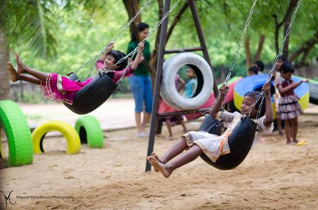 These IIT Students Just Gave India A Solution To Tackle Its Waste Problems. They Are Using Scrap Tyres To Build Playgrounds For Children