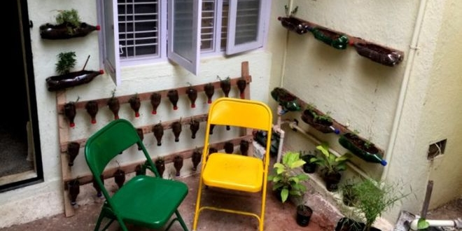 Fighting Poverty And Swachh Bharat Cause: Two Youngsters In Bengaluru Make Gardens Using Plastic Bottles And Waste