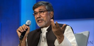 Nobel Peace Laureate Kailash Satyarthi PM Modi Child Slavery India Drought