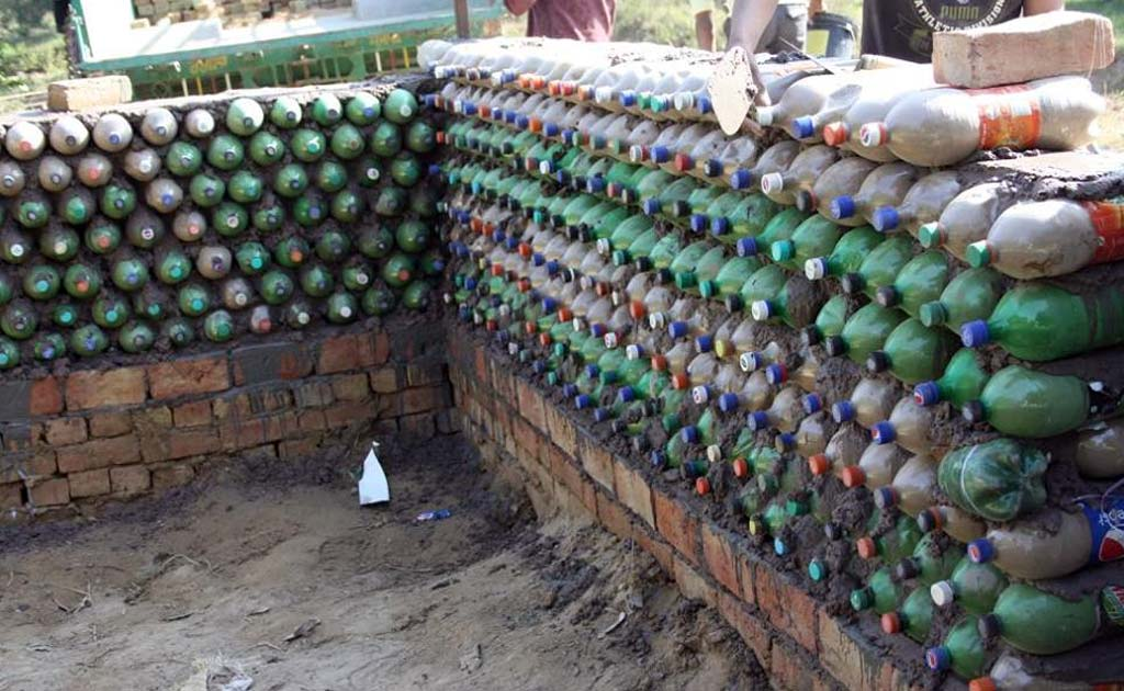 Doon School Student Low Cost House Plastic Bottles Dehradun