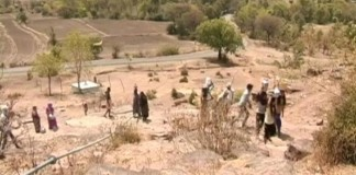 Village In Drought 2016 Madhya Pradesh India