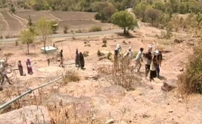 Village In Drought 2016 Madhya Pradesh India