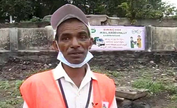 Hyderabad sanitary worker