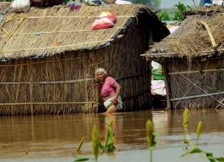 Woman in flood-hit Bihar