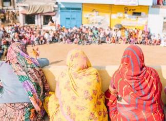 A village panchayat