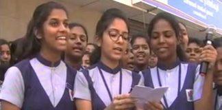 School Girls Force A Liquor Shop To Shut In Kerala
